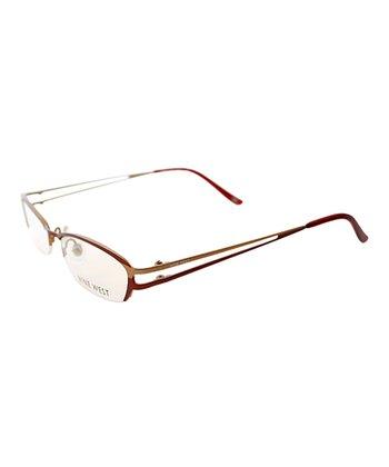 Paprika & Tangerine Cutout Wire-Frame Eyeglasses