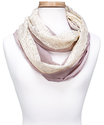 Taupe Vintage Infinity Scarf