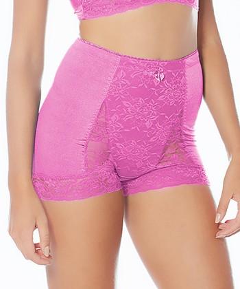Bright Pink Pin-Up High-Waist Briefs - Women & Plus