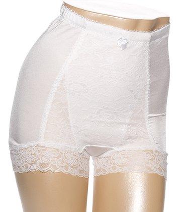 White Pin-Up High-Waist Briefs - Women & Plus