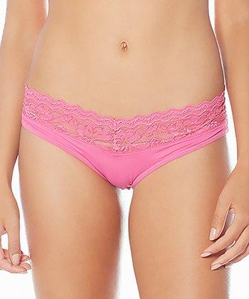 Strawberry Sweet Cupcake Lace Trim Bikini Briefs - Women & Plus