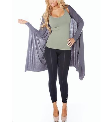 Charcoal Snuggle Knit Shrug - Women & Plus