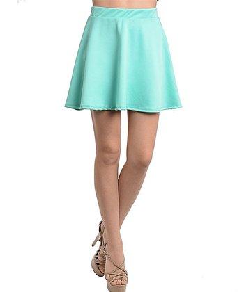 Mint A-Line Skirt