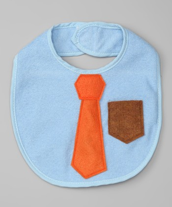 Light Blue Business Lunch Bib