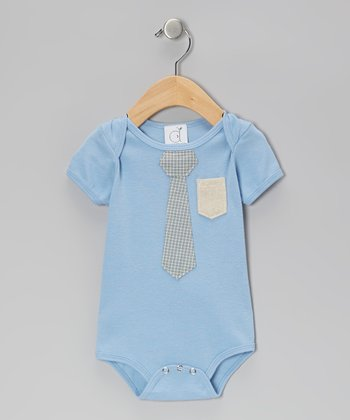 Light Blue Business Time Bodysuit - Infant