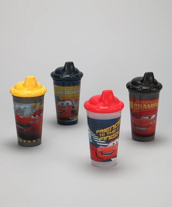 Yellow & Black Cars Sippy Cup Set