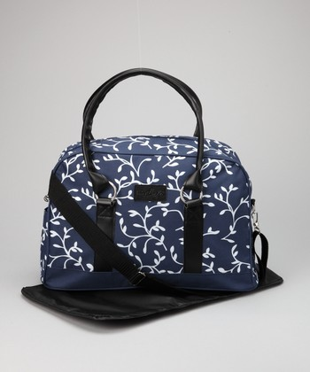 Navy Trending Mom Diaper Bag & Changing Mat