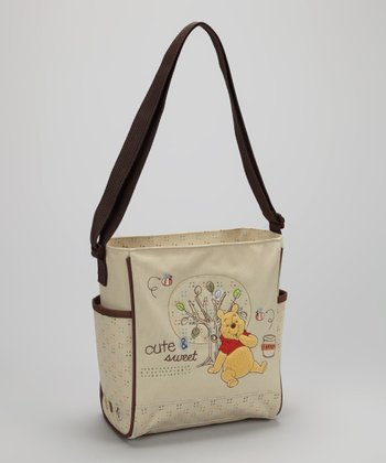 Cream & Brown Pooh Mini Diaper Bag