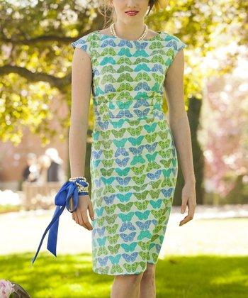 Blue Papillon Dress