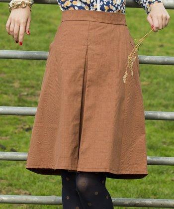 Orange Glasgow Skirt