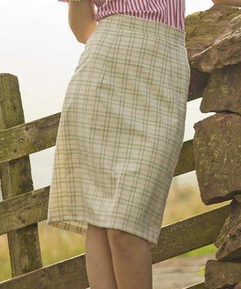 Cream & Brown Glencoe Skirt