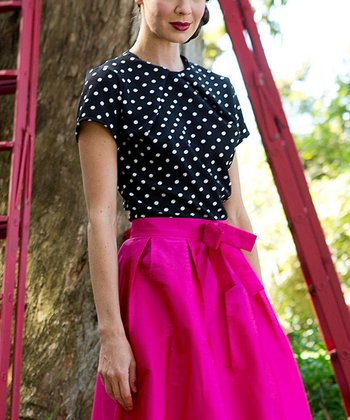 Black & White Polka Dot Couture D'Or Top