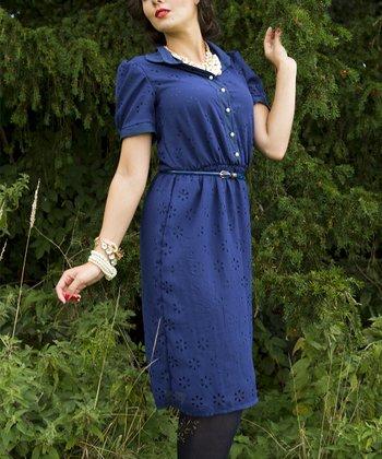 Navy Leighton Dress