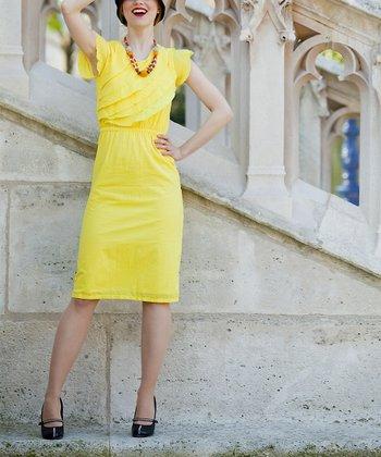 Yellow Tuileries Dress