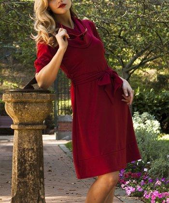 Red Bampton Dress