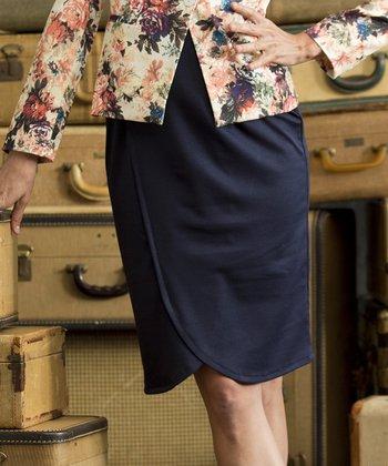 Navy Blue Gibson Girl Skirt