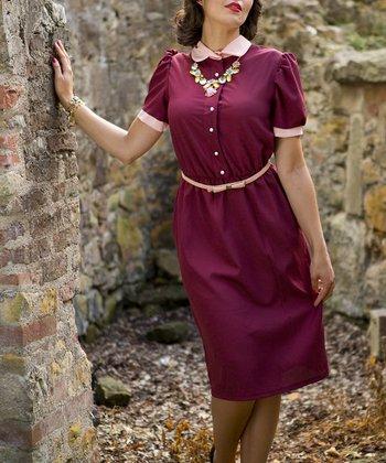 Burgundy Paxton Dress