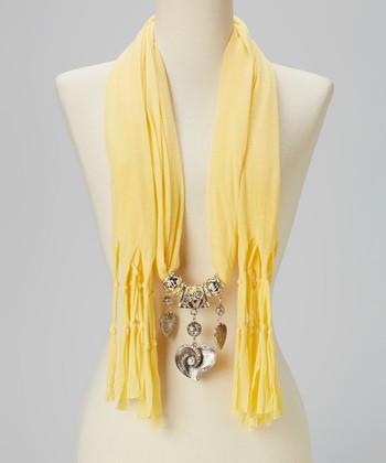 Yellow Charm Silk-Blend Scarf