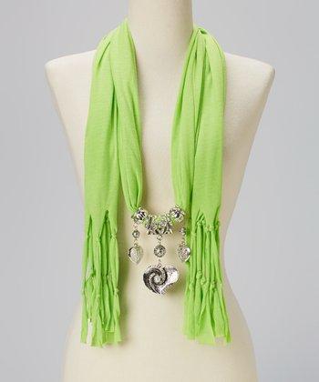 Green Charm Silk-Blend Scarf