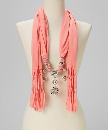 Light Orange Charm Silk-Blend Scarf