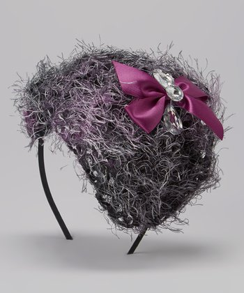 Gray & Purple Fascinator
