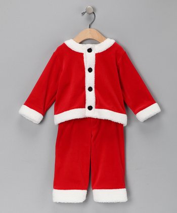 Red Santa Jacket & Pants - Infant