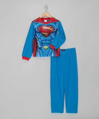 Muscular Superman Caped Pajama Set - Boys