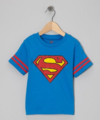 Blue Superman Caped Tee - Toddler