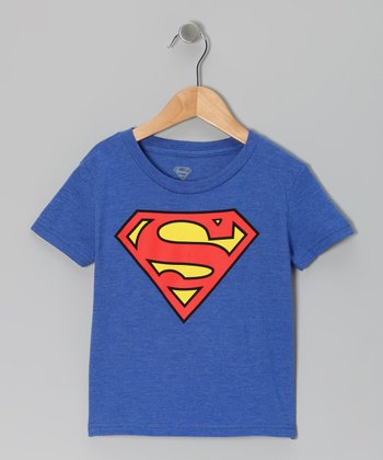 Blue Superman Logo Tee - Toddler