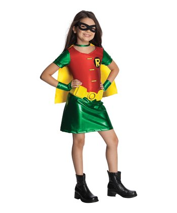 Green & Red Robin Dress-Up Set - Girls