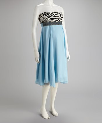 Blue American Pie Audrey Maternity Dress - Women & Plus