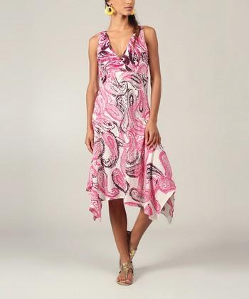 Pink Paisley Handkerchief Dress