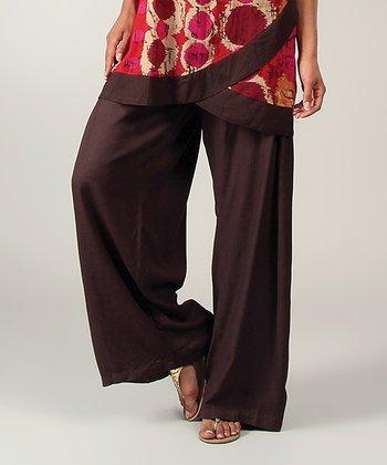 Chocolate Wide-Leg Lounge Pants