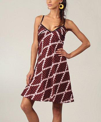 Ruby Diamond V-Neck Dress