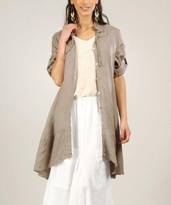 Mole Linen Button-Up Jacket