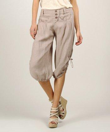 Mole Linen Capri Pants