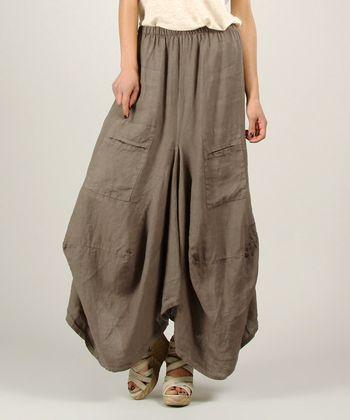Mole Linen Maxi Skirt