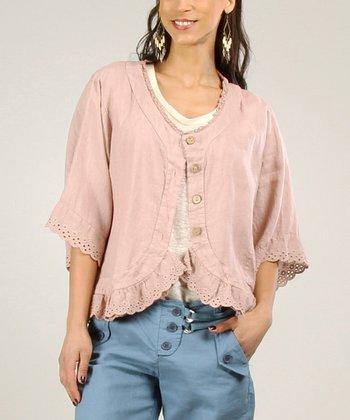 Beige Linen Sidetail Tunic