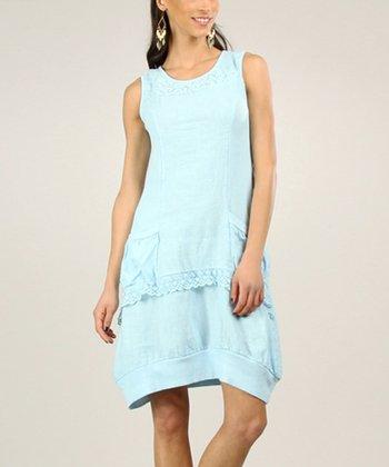 Light Pink Linen Shift Dress