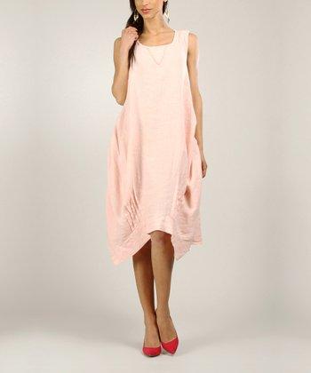 Light Pink Linen Handkerchief Dress