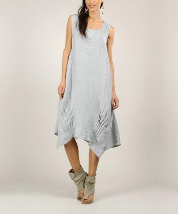 Grey Linen Handkerchief Dress