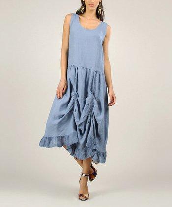 Mole Linen Sidetail Dress