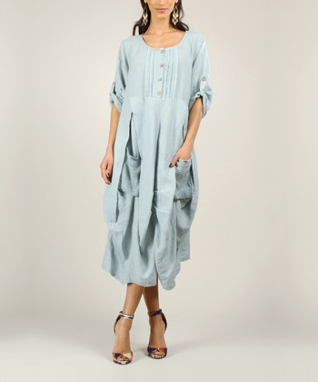 White Linen Ruched Dress