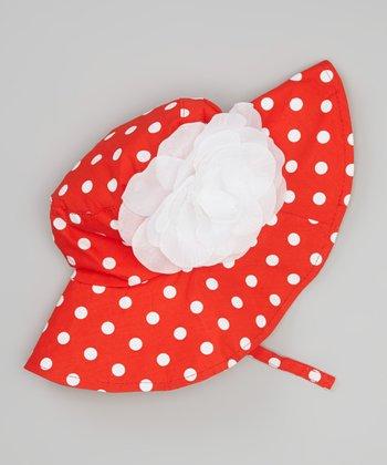 Red & White Polka Dot Sunhat