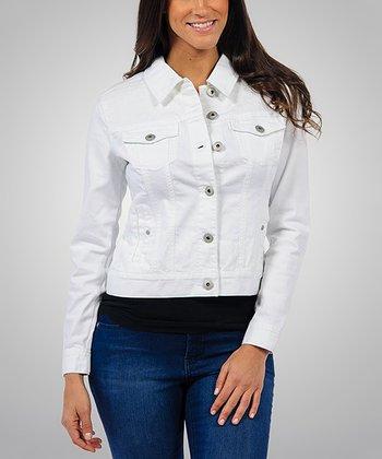 Liverpool Jeans Company White Classic Denim Jacket