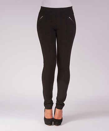 Liverpool Jeans Company Black Piped Madonna Skinny Jeggings