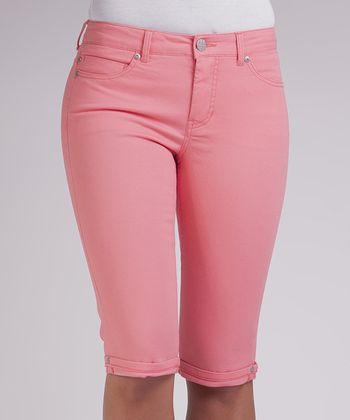 Liverpool Jeans Company Pink Lady Julia Short Capri Pants