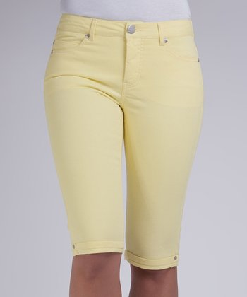 Liverpool Jeans Company Sour Lemon Julia Short Capri Pants