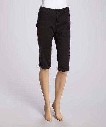 Liverpool Jeans Company Black Julia Short Capri Pants
