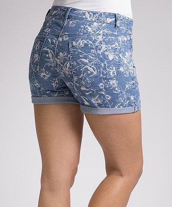 Liverpool Jeans Company Blue Swirl Linda Shorts